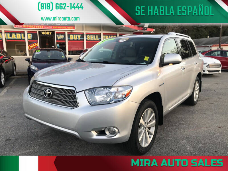 2010 Toyota Highlander Hybrid for sale at Mira Auto Sales in Raleigh NC