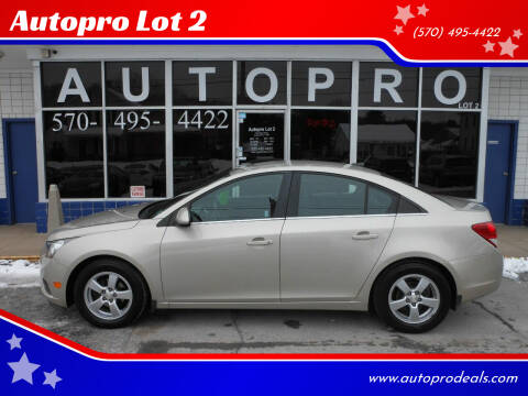 2014 Chevrolet Cruze for sale at Autopro Lot 2 in Sunbury PA