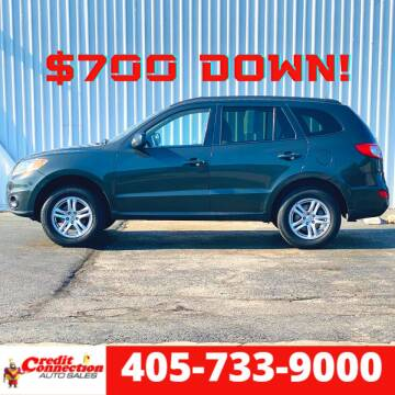 2010 Hyundai Santa Fe for sale at Credit Connection Auto Sales in Midwest City OK
