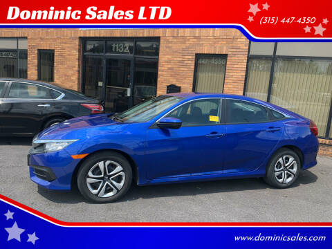 2018 Honda Civic for sale at Dominic Sales LTD in Syracuse NY