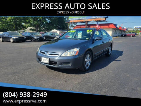 2007 Honda Accord for sale at EXPRESS AUTO SALES in Midlothian VA