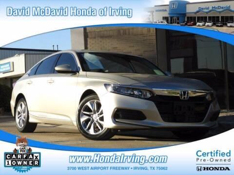 2018 Honda Accord for sale at DAVID McDAVID HONDA OF IRVING in Irving TX