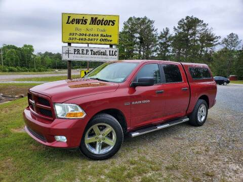 2012 RAM Ram Pickup 1500 for sale at Lewis Motors LLC in Deridder LA
