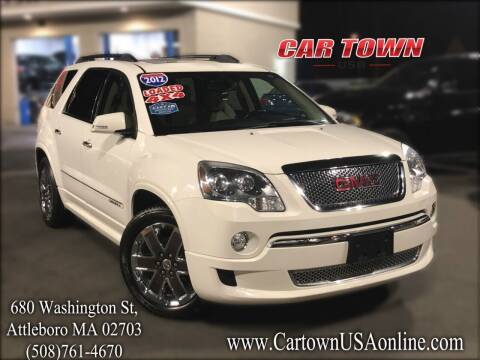 2012 GMC Acadia for sale at Car Town USA in Attleboro MA