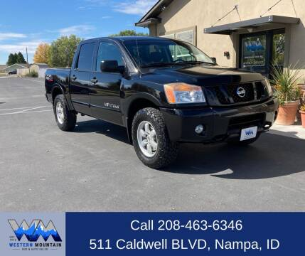 2012 Nissan Titan for sale at Western Mountain Bus & Auto Sales in Nampa ID