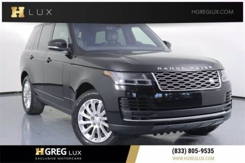 2019 Land Rover Range Rover for sale at HGREG LUX EXCLUSIVE MOTORCARS in Pompano Beach FL