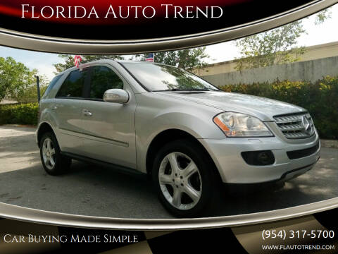2008 Mercedes-Benz M-Class for sale at Florida Auto Trend in Plantation FL