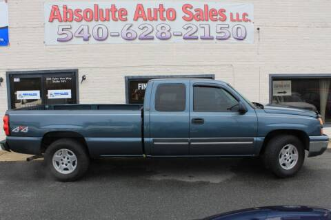 2006 Chevrolet Silverado 1500 for sale at Absolute Auto Sales in Fredericksburg VA