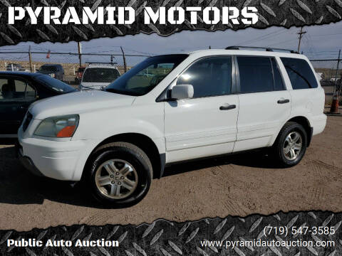 2003 Honda Pilot for sale at PYRAMID MOTORS - Pueblo Lot in Pueblo CO