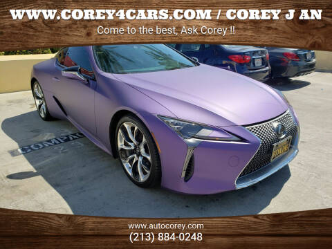 2019 Lexus LC 500 for sale at WWW.COREY4CARS.COM / COREY J AN in Los Angeles CA
