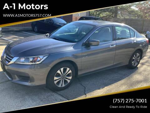 2013 Honda Accord for sale at A-1 Motors in Virginia Beach VA