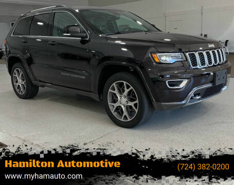 2018 Jeep Grand Cherokee for sale at Hamilton Automotive in North Huntingdon PA
