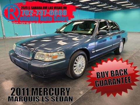 2011 Mercury Grand Marquis for sale at Reliable Auto Sales in Las Vegas NV