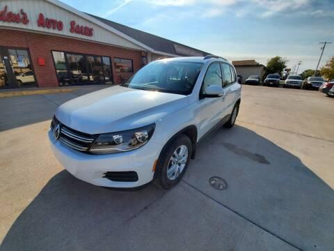 2016 Volkswagen Tiguan for sale at Eden's Auto Sales in Valley Center KS