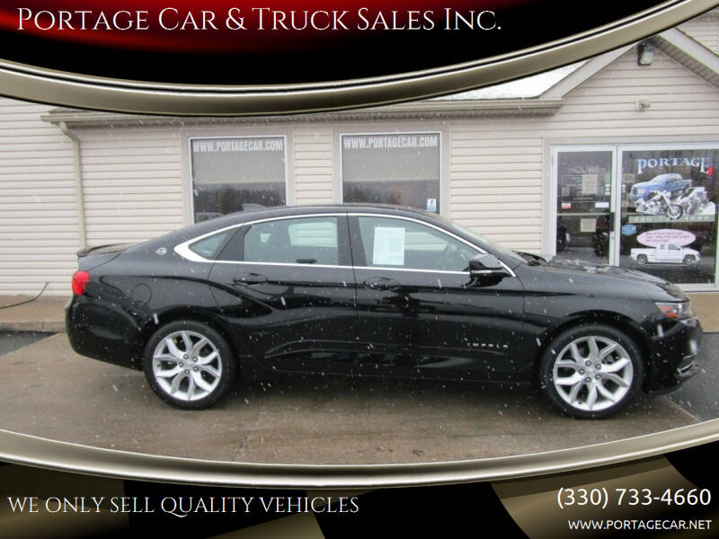 2017 Chevrolet Impala for sale at Portage Car & Truck Sales Inc. in Akron OH