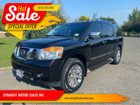 2015 Nissan Armada for sale at STRAIGHT MOTOR SALES INC in Paterson NJ