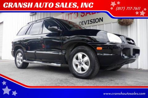 2006 Hyundai Santa Fe for sale at CRANSH AUTO SALES, INC in Arlington TX