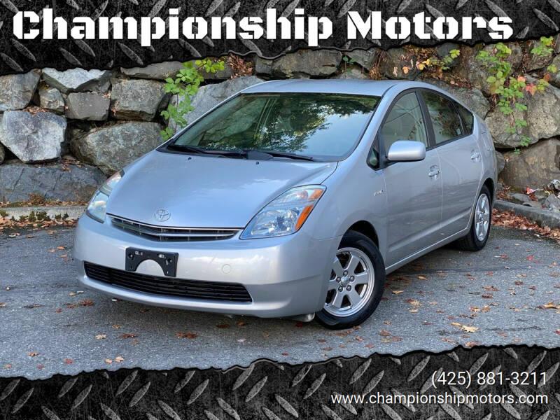 2008 Toyota Prius for sale at Championship Motors in Redmond WA