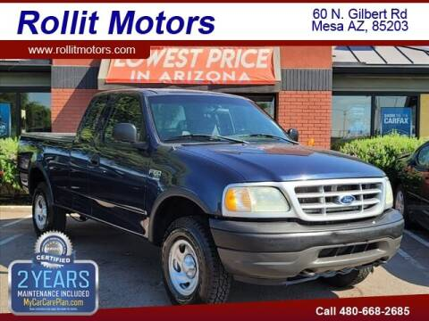 2002 Ford F-150 for sale at Rollit Motors in Mesa AZ