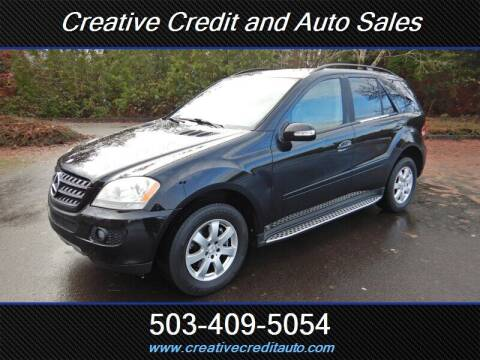 2007 Mercedes-Benz M-Class for sale at Creative Credit & Auto Sales in Salem OR