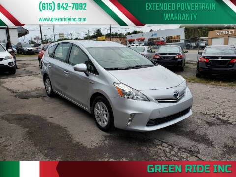 2014 Toyota Prius v for sale at Green Ride Inc in Nashville TN