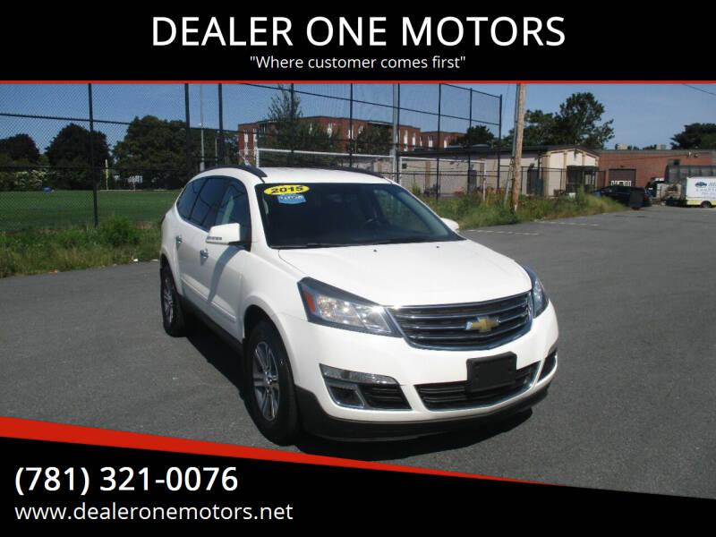 2015 Chevrolet Traverse for sale at DEALER ONE MOTORS in Malden MA