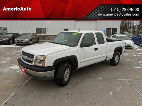 2003 Chevrolet Silverado 1500 for sale at AmericAuto in Des Moines IA