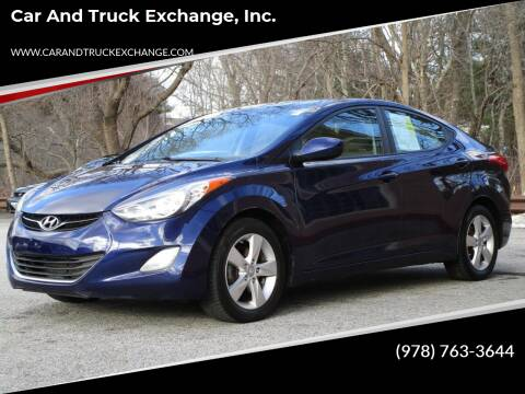 2013 Hyundai Elantra for sale at Car and Truck Exchange, Inc. in Rowley MA