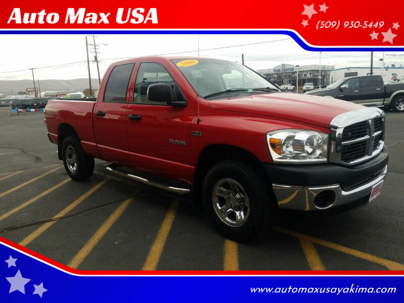 2008 Dodge Ram Pickup 1500 for sale at Auto Max USA in Yakima WA