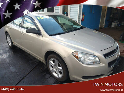 2010 Chevrolet Malibu for sale at TWIN MOTORS in Madison OH