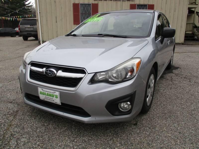 2013 Subaru Impreza for sale at Roland's Motor Sales in Alfred ME