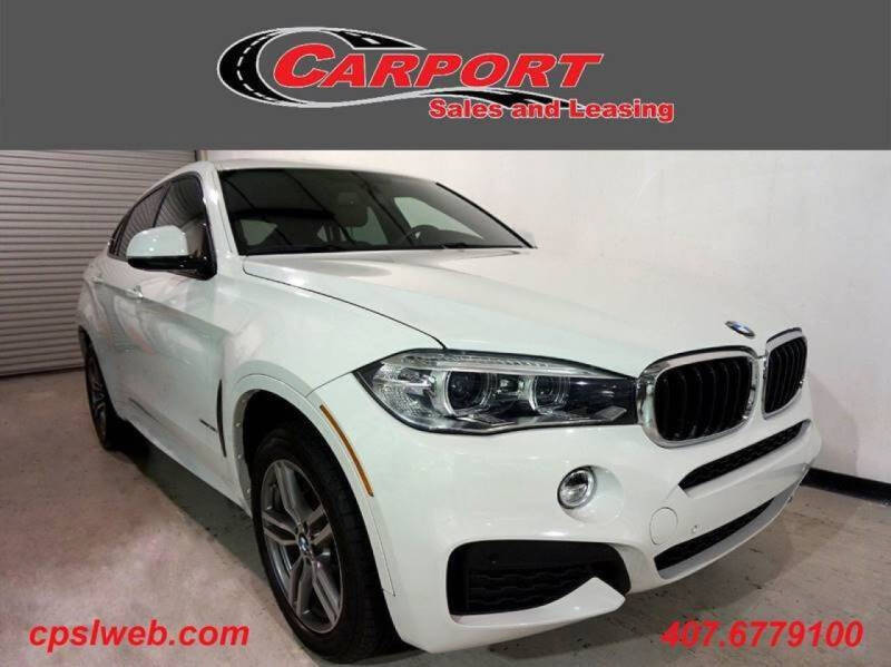 2015 BMW X6 for sale at CARPORT SALES AND  LEASING in Oviedo FL
