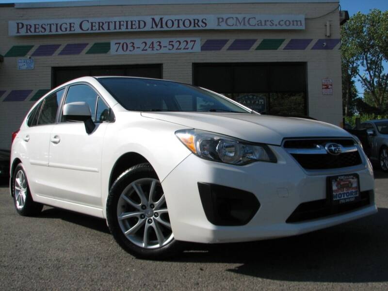2012 Subaru Impreza for sale at Prestige Certified Motors in Falls Church VA