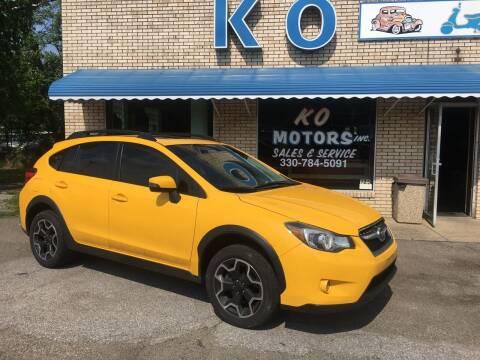 2015 Subaru XV Crosstrek for sale at K O Motors in Akron OH