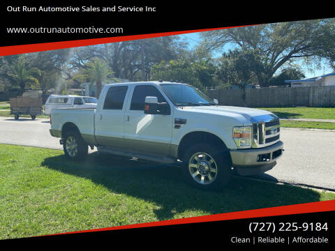 2010 Ford F-250 Super Duty for sale at Out Run Automotive Sales and Service Inc in Tampa FL