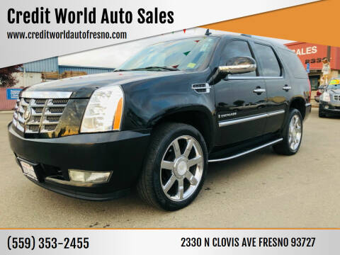 2008 Cadillac Escalade for sale at Credit World Auto Sales in Fresno CA