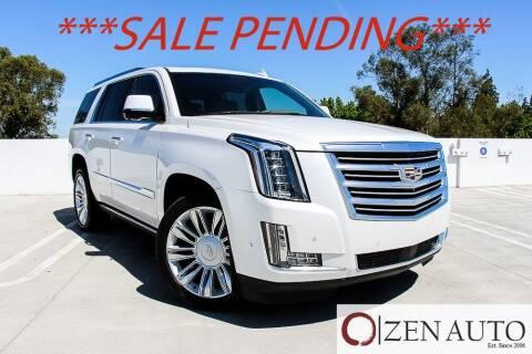 2018 Cadillac Escalade for sale at Zen Auto Sales in Sacramento CA