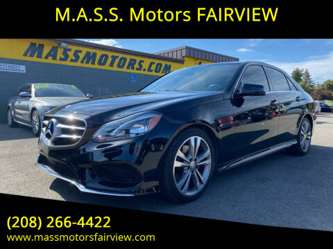 2016 Mercedes-Benz E-Class for sale at M.A.S.S. Motors - Fairview in Boise ID