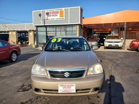 2007 Suzuki Forenza for sale at North Chicago Car Sales Inc in Waukegan IL