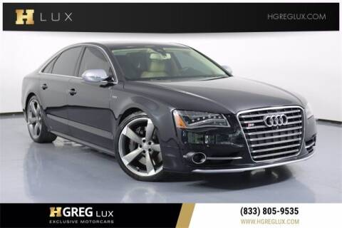 2013 Audi S8 for sale at HGREG LUX EXCLUSIVE MOTORCARS in Pompano Beach FL