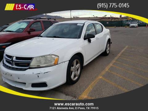 2013 Dodge Avenger for sale at Escar Auto in El Paso TX