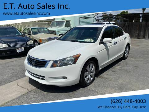 2009 Honda Accord for sale at E.T. Auto Sales Inc. in El Monte CA