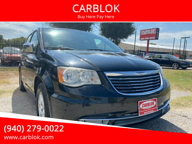 2012 Chrysler Town and Country for sale at CARBLOK in Lewisville TX