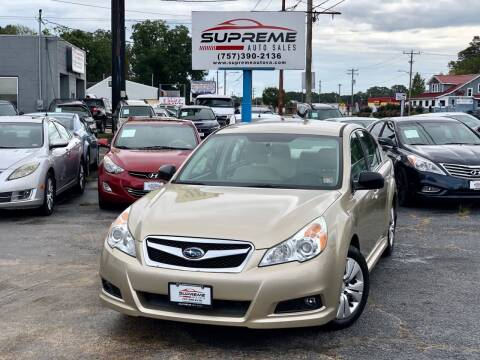 2010 Subaru Legacy for sale at Supreme Auto Sales in Chesapeake VA