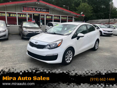 2016 Kia Rio for sale at Mira Auto Sales in Raleigh NC