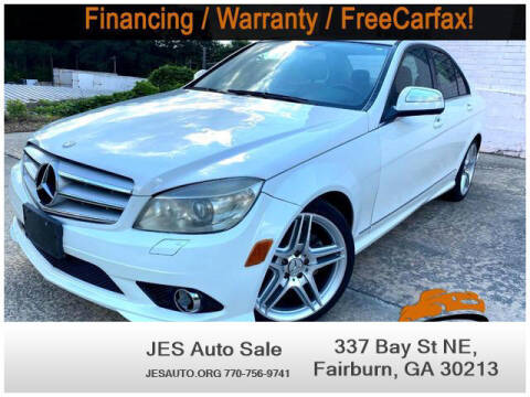 2009 Mercedes-Benz C-Class for sale at JES Auto Sales LLC in Fairburn GA