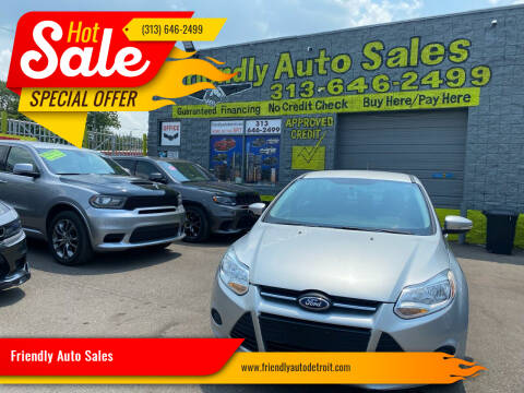2013 Ford Focus for sale at Friendly Auto Sales in Detroit MI
