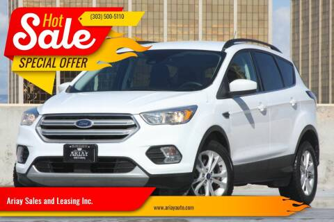 2018 Ford Escape for sale at Ariay Sales and Leasing Inc. - Pre Owned Storage Lot in Glendale CO