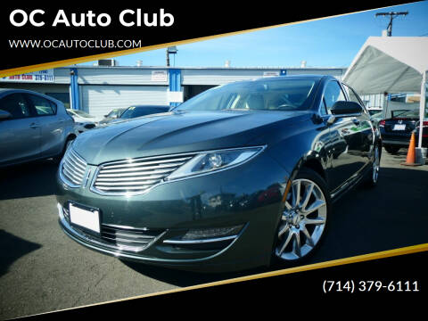 2015 Lincoln MKZ for sale at OC Auto Club in Midway City CA