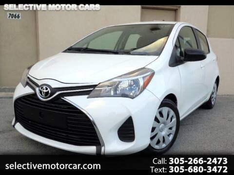 2016 Toyota Yaris for sale at Selective Motor Cars in Miami FL